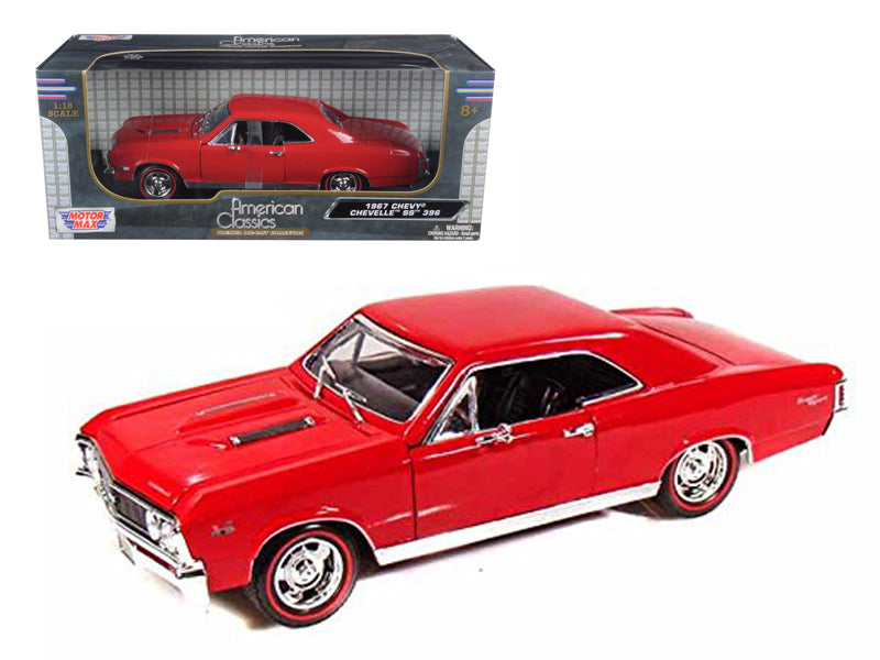 1967 Chevrolet Chevelle SS 396 Amber Red 1/18 Diecast Model Car by Motormax - BeTovi&co
