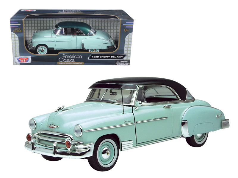 1950 Chevrolet Bel Air Green 1/18 Diecast Model Car by Motormax - BeTovi&co