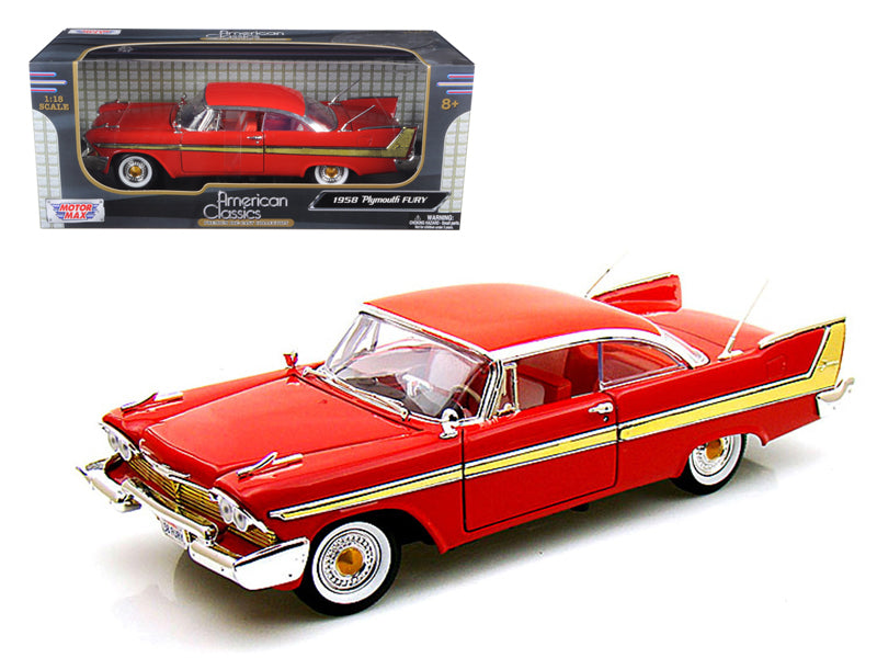1958 Plymouth Fury Red 1/18 Diecast Model Car by Motormax - BeTovi&co