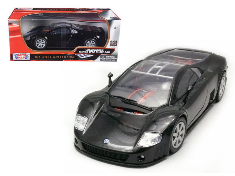 Volkswagen Nardo W12 Show Car Black 1/18 Diecast Model Car by Motormax - BeTovi&co