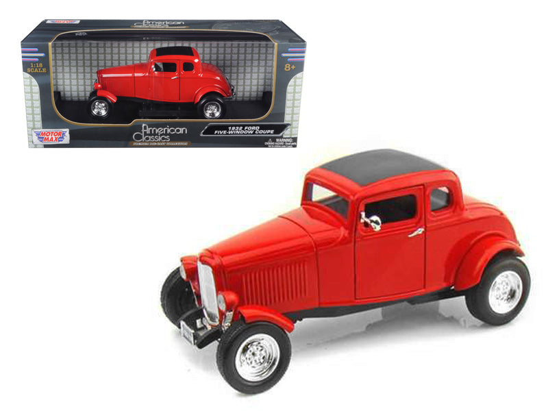 1932 Ford Coupe Red 1/18 Diecast Model Car by Motormax