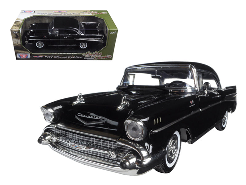 "1957 Chevrolet Bel Air Black \Timeless Classics"" 1/18 Diecast Model Car by Motormax"" - BeTovi&co"