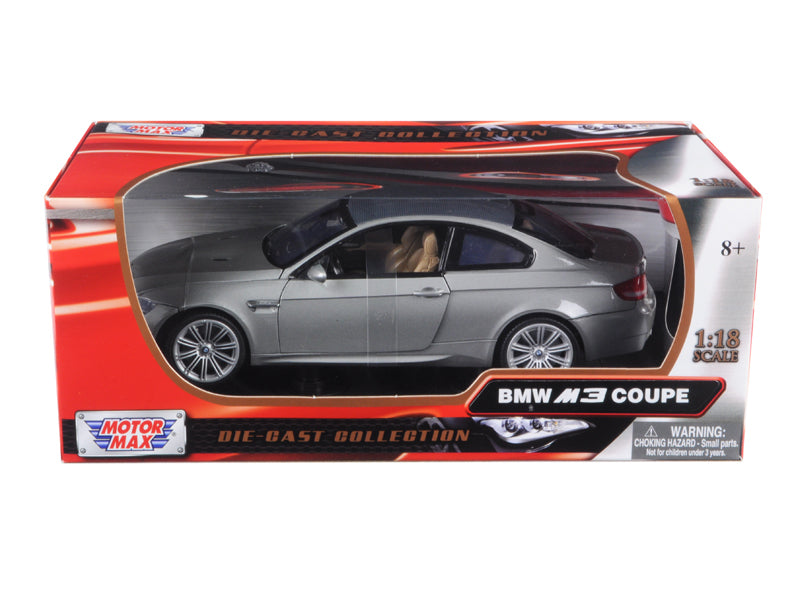 BMW M3 E92 Coupe Gray 1/18 Diecast Model Car by Motormax - BeTovi&co