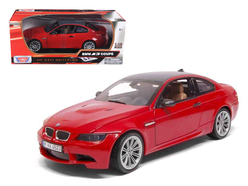 BMW M3 E92 Coupe Red 1/18 Diecast Car Model by Motormax - BeTovi&co