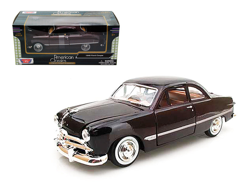 1949 Ford Coupe Burgundy 1/24 Diecast Model Car by Motormax - BeTovi&co