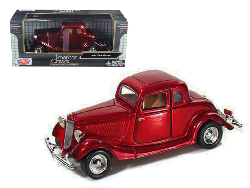 1934 Ford Coupe Red 1/24 Diecast Model Car by Motormax - BeTovi&co