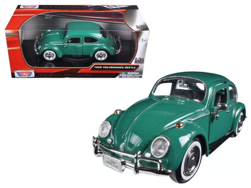 1966 Volkswagen Beetle Green 1/24 Diecast Model Car by Motormax - BeTovi&co