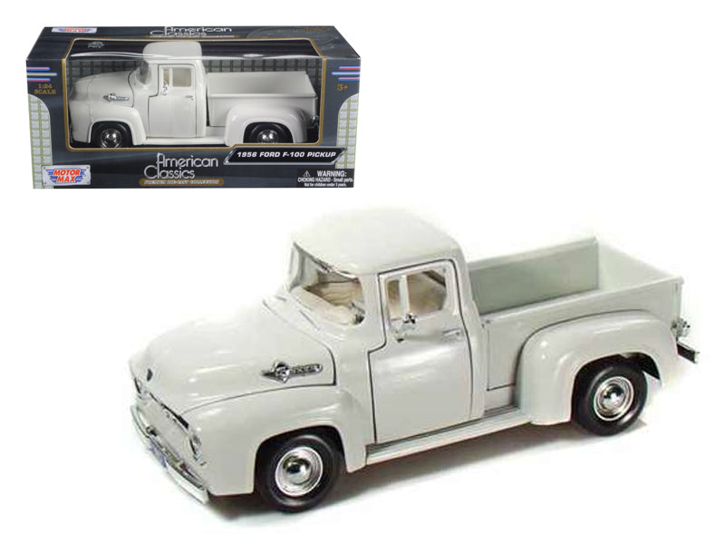 1956 Ford F-100 Pickup White 1/24 Diecast Car Model by Motormax - BeTovi&co