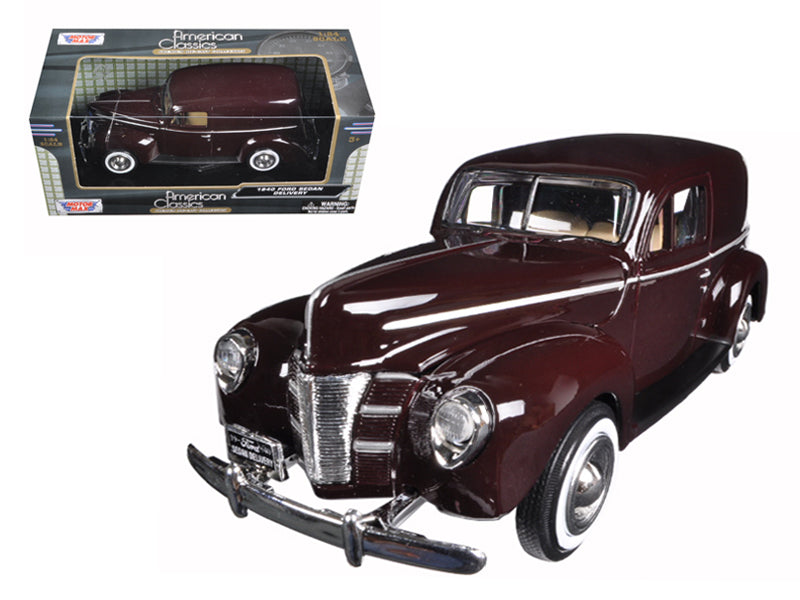 1940 Ford Sedan Delivery Brown 1/24 Diecast Model Car by Motormax - BeTovi&co