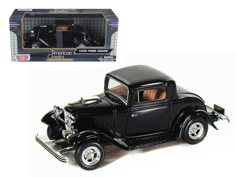 1932 Ford Coupe Black 1/24 Diecast Model Car by Motormax - BeTovi&co