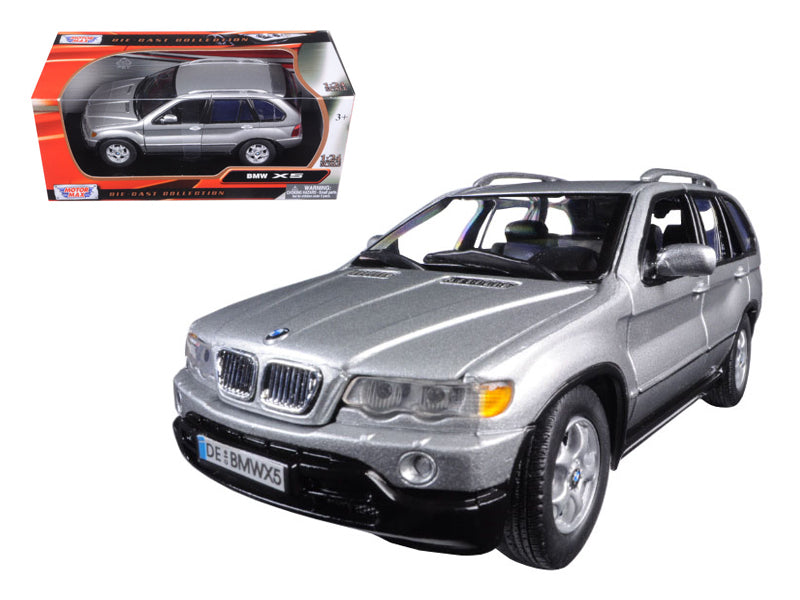 BMW X5 Silver 1/24 Diecast Model Car by Motormax - BeTovi&co