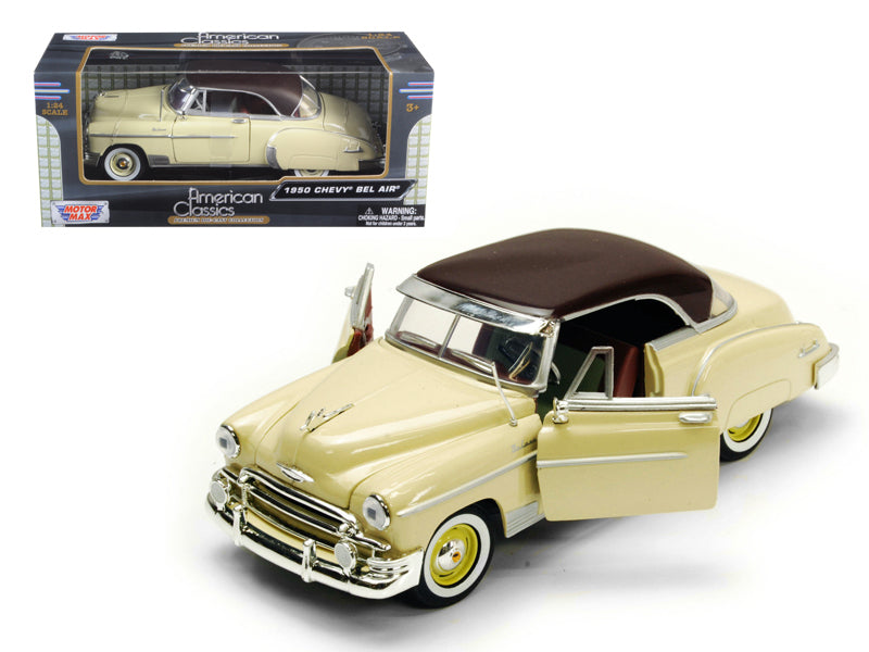 1950 Chevrolet Bel Air Cream 1/24 Diecast Model Car by Motormax - BeTovi&co