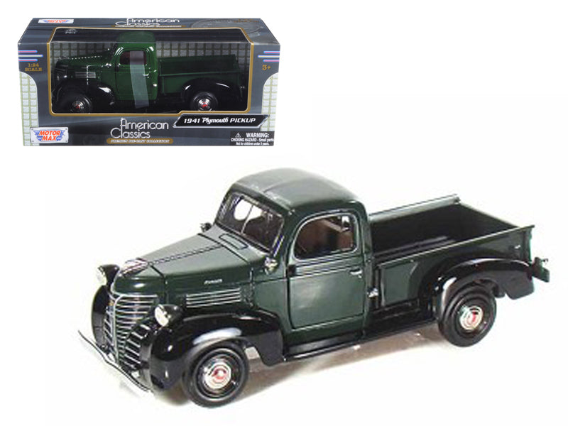 1941 Plymouth Pickup Green 1/24 Diecast Model Car by Motormax - BeTovi&co