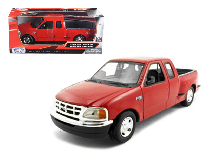Ford F-150 Pickup Truck Flareside Supercab Red 1/24 Diecast Model Car by Motormax - BeTovi&co