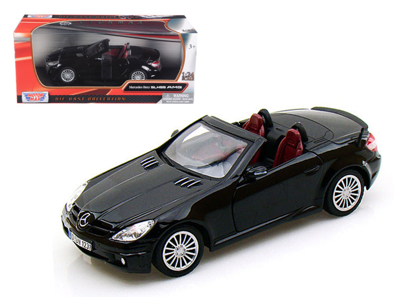 Mercedes SLK 55 AMG Black 1/24 Diecast Car Model by Motormax - BeTovi&co