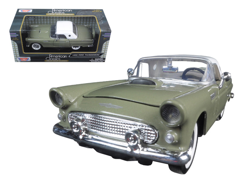 1956 Ford Thunderbird Soft Top Green 1/24 Diecast Car Model by Motormax - BeTovi&co