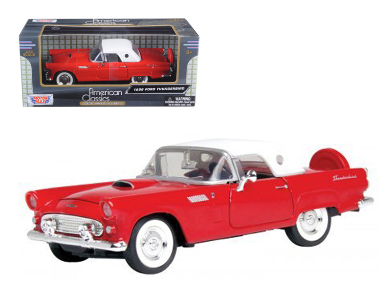 1956 Ford Thunderbird Red 1/24 Diecast Car Model by Motormax - BeTovi&co