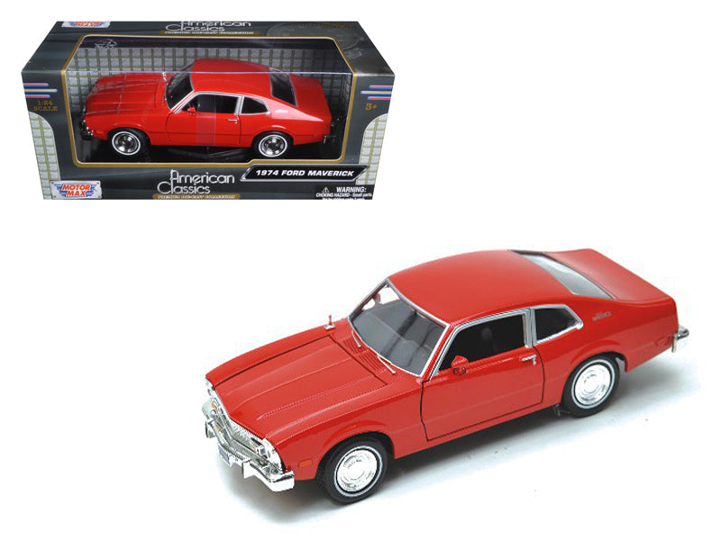 1974 Ford Maverick Red 1/24 Diecast Car Model by Motormax - BeTovi&co