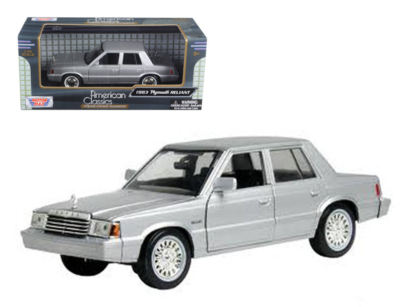 1983 Plymouth Reliant Silver 1/24 Diecast Car Model by Motormax - BeTovi&co
