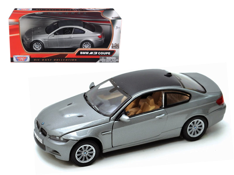 BMW M3 E92 Coupe Gray 1/24 Diecast Model Car by Motormax - BeTovi&co