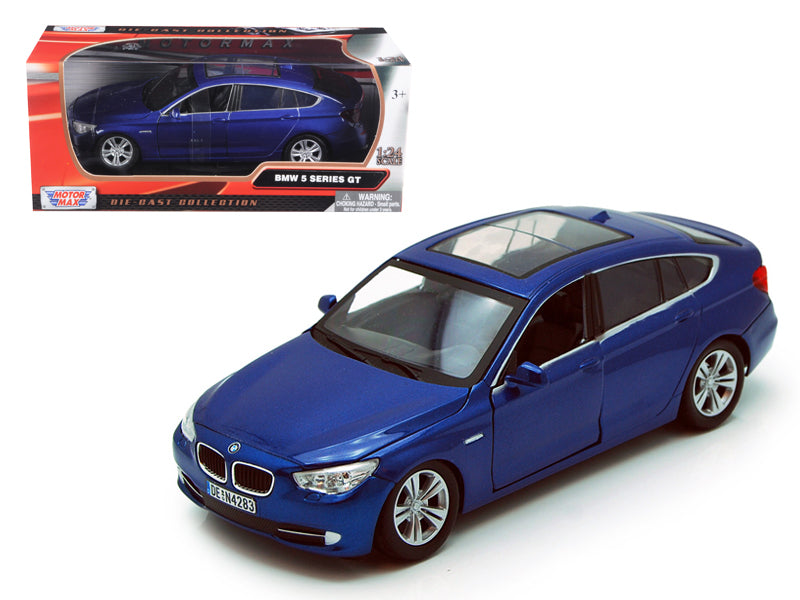 BMW 5 Series GT Blue 1/24 Diecast Car Model by Motormax - BeTovi&co