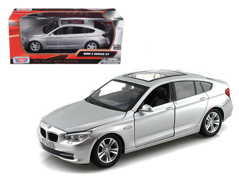 BMW 5 Series GT Silver 1/24 Diecast Car Model by Motormax - BeTovi&co
