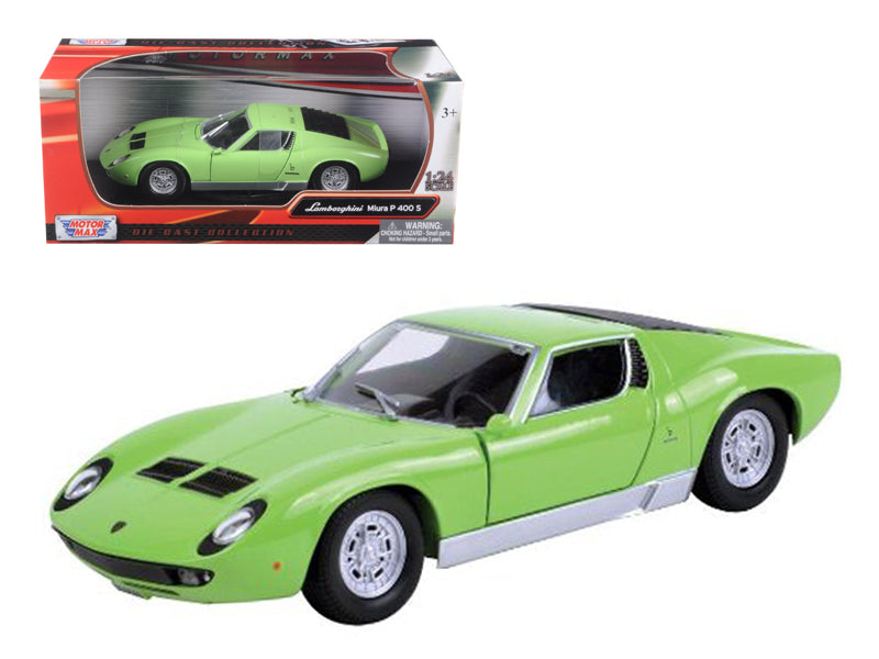 Lamborghini Miura P 400 S Green 1/24 Diecast Car Model by Motormax - BeTovi&co