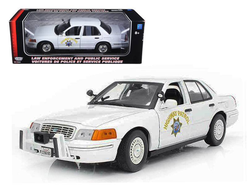 Ford Crown Victoria California Highway Patrol Car White 1/18 Diecast Model Car by Motormax - BeTovi&co