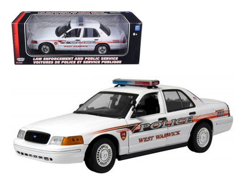 Ford Crown Victoria West Warwick Ri Police Car 1/18 Diecast Model Car by Motormax - BeTovi&co