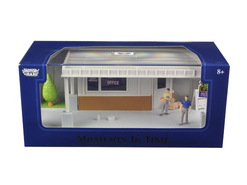 'Big 8 Motel Scene' Diorama Put Your Own Car Inside 1/43 by Motormax - BeTovi&co