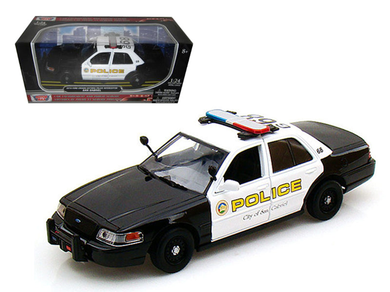 2010 Ford Crown Victoria San Gabriel Police Car 1/24 Diecast Model Car by Motormax - BeTovi&co