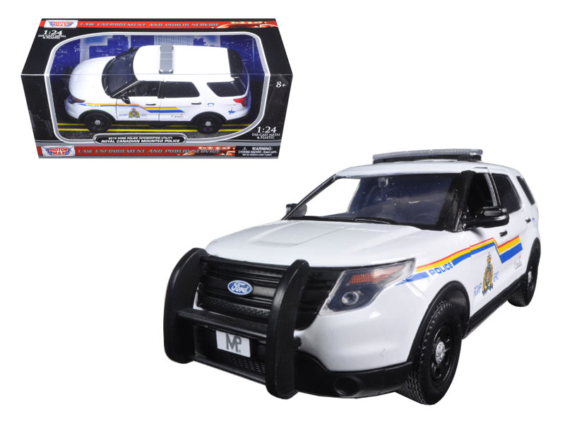 2015 Ford Police Interceptor Utility RCMP Royal Canadian Mounted Police Car with Light Bar 1/24 Diecast Model Car by Motormax - BeTovi&co