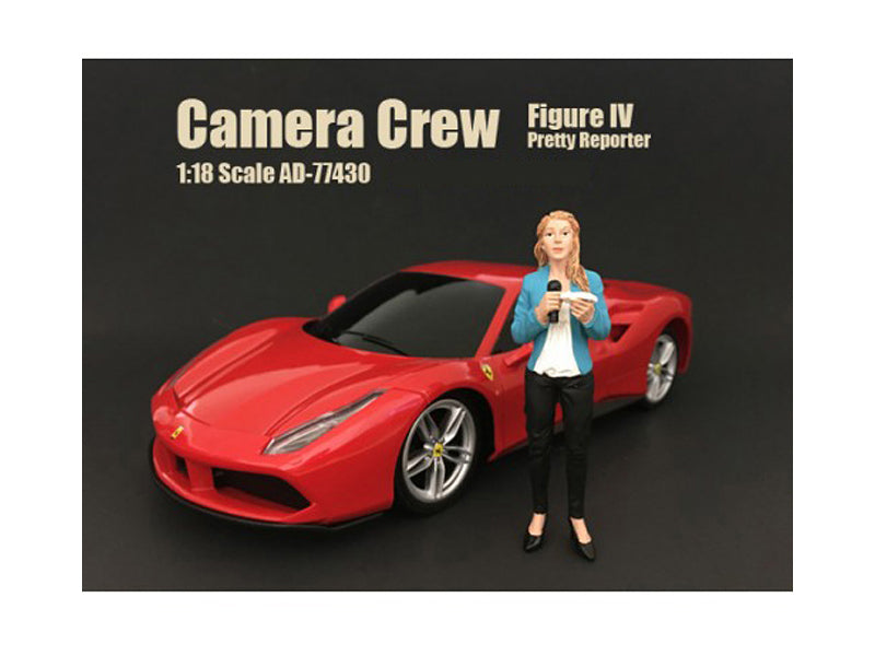 Camera Crew Figure IV 'Pretty Reporter' For 1:18 Scale Models by American Diorama - BeTovi&co