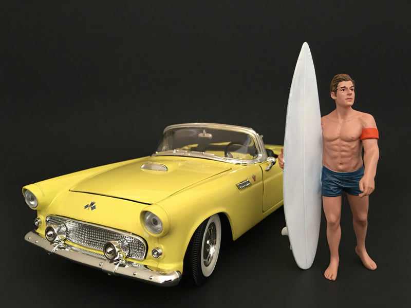 Surfer Greg Figure For 1:18 Scale Models by American Diorama - BeTovi&co
