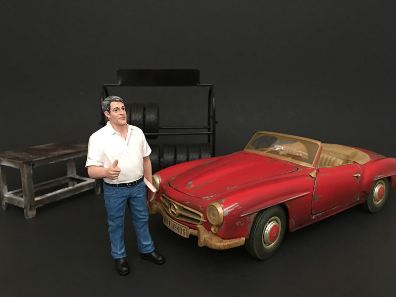 Mechanic Manager Tim Figure For 1:18 Scale Models by American Diorama - BeTovi&co