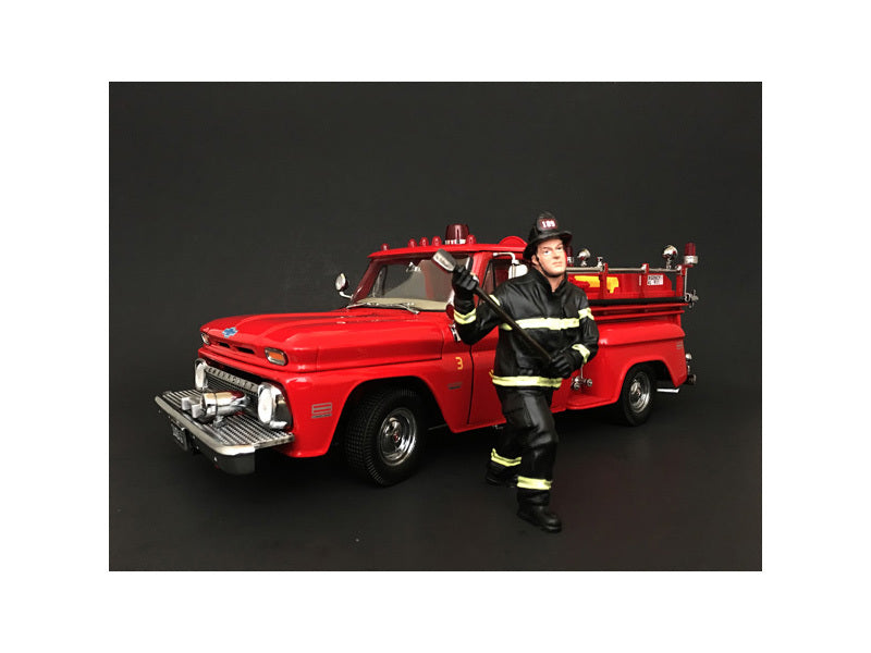 Firefighter with Axe Figurine / Figure For 1:18 Models by American Diorama - BeTovi&co