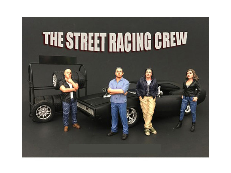 The Street Racing Crew 4 Piece Figure Set For 1:24 Scale Models by American Diorama - BeTovi&co