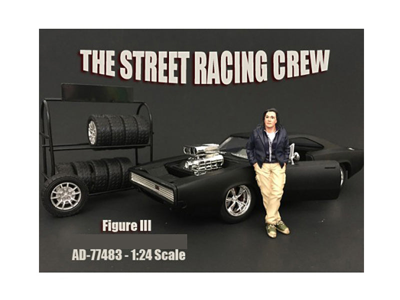 The Street Racing Crew Figure III For 1:24 Scale Models by American Diorama - BeTovi&co
