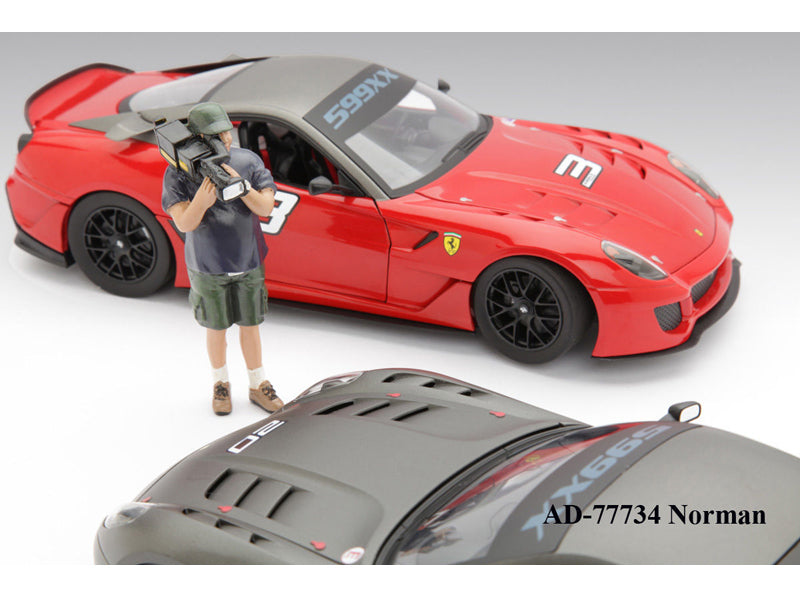 Camera Man Norman Figure For 1:18 Diecast Car Models by American Diorama - BeTovi&co