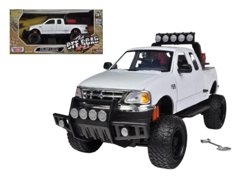 2001 Ford F-150 XLT Flareside Supercab Pickup Truck Off Road White 1/24 Diecast Model by Motormax - BeTovi&co