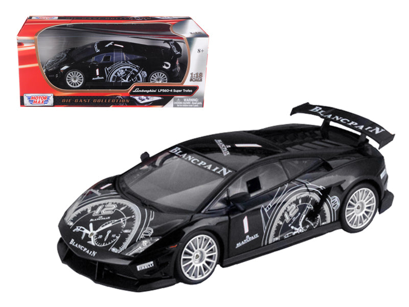 Lamborghini Gallardo LP560-4 Super Trofeo Black 1/18 Diecast Model Car by Motormax - BeTovi&co