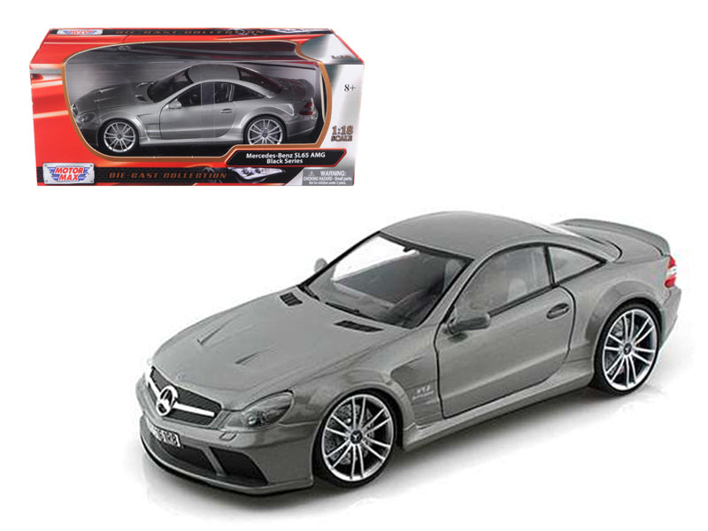 Mercedes SL65 AMG Black Series (R230) Grey 1/18 Diecast Model Car by Motormax - BeTovi&co
