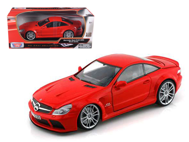 Mercedes SL65 AMG Black Series (R230) Red 1/18 Diecast Model Car by Motormax - BeTovi&co