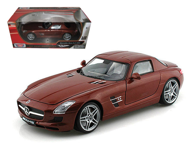 Mercedes SLS AMG Gullwing Chocolate 1/18 Diecast Car Model by Motormax - BeTovi&co