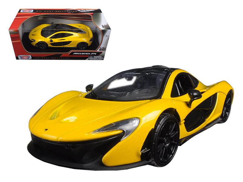 McLaren P1 Yellow 1/24 Diecast Model Car by Motormax - BeTovi&co