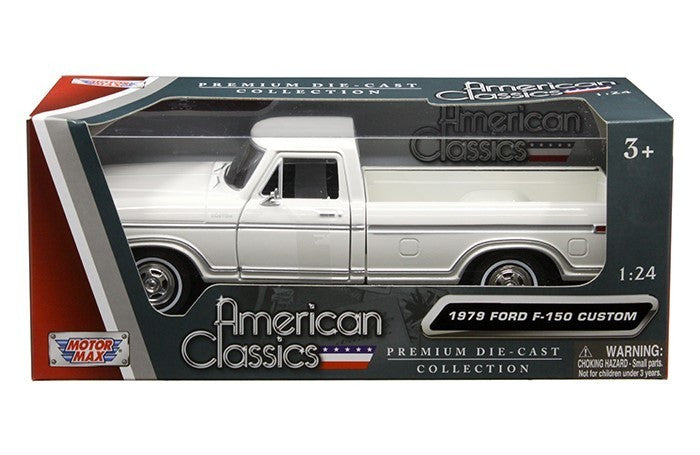1979 Ford F-150 Pickup Truck White 1/24 Diecast Model Car by Motormax - BeTovi&co