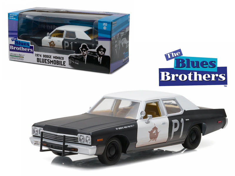 1974 Dodge Monaco Bluesmobile 'The Blues Brothers' Movie 1/24 Diecast Model Car by Greenlight - BeTovi&co