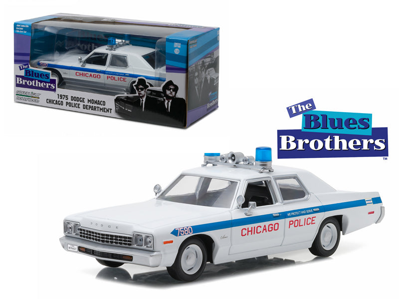 1975 Dodge Monaco Chicago Police 'The Blues Brothers' Movie 1/24 Diecast Model Car by Greenlight - BeTovi&co
