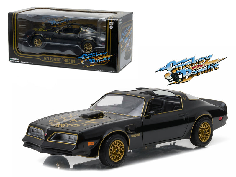 1977 Pontiac Trans Am Black 'Smokey and the Bandit' Movie 1/24 Diecast Model Car  by Greenlight - BeTovi&co