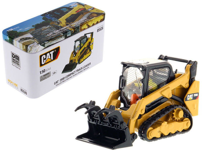 Caterpillar 259D Compact Track Loader with Operator and Tools